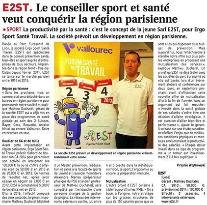 E2ST le conseiller sport santé veut conquérir la région parisienne