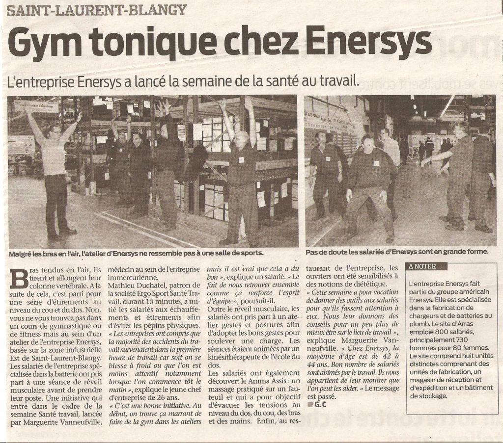 Gym tonique chez Enersys